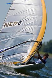 Medemblik - the Netherlands, May 29th 2009. Delta Lloyd Regatta in Medemblik (27/31 May 2009). Day 3. Dorian van Rijsselberge (NED 8).