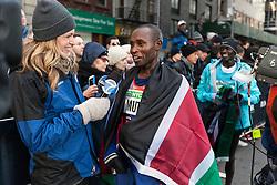 NYRR New York City Half Marathon: Geoffrey Mutai after win