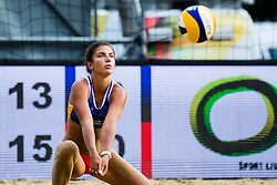 during match for 3rd place at Beach Volleyball World Tour in Ljubljana 2020, on August 2, 2020 in Kongresni trg, Ljubljana, Slovenia. Photo by Grega Valancic / Sportida