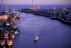 Early evening on the waterway in Kemah Texas