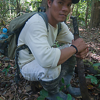 Edgar, a native Amazon Indian, now works as a guide for a jungle lodge near Iquitos.