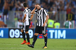 August 13, 2017 - Rome, Italy - The delusion of Gonzalo Higuain of Juventus during the Italian SuperCup TIM football match Juventus vs lazio on August 13, 2017 at the Olympic stadium in Rome. (Credit Image: © Matteo Ciambelli/NurPhoto via ZUMA Press)