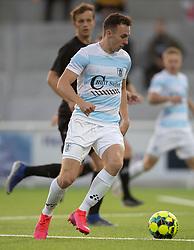 Sebastian Czajkowski (FC Helsingør) under kampen i 1. Division mellem FC Helsingør og Vendsyssel FF den 18. september 2020 på Helsingør Stadion (Foto: Claus Birch).