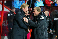 Bournemouth Manager Eddie Howe greats Southampton Manager Ronald Koeman - Mandatory by-line: Jason Brown/JMP - Mobile 07966 386802 01/03/2016 - SPORT - FOOTBALL - Bournemouth, Vitality Stadium - AFC Bournemouth v Southampton - Barclays Premier League