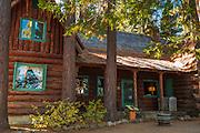 Log cabin at Tallac Historic Site, Lake Tahoe, California USA