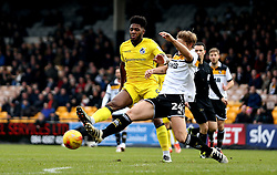 Ellis Harrison of Bristol Rovers is tackled by Nathan Smith of Port Vale - Mandatory by-line: Robbie Stephenson/JMP - 18/02/2017 - FOOTBALL - Vale Park - Stoke-on-Trent, England - Port Vale v Bristol Rovers - Sky Bet League One