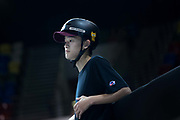 Sora Shirai, Japan, during the men's final of the Street League Skateboarding World Tour Event at Queen Elizabeth Olympic Park on 26th May 2019 in London in the United Kingdom.