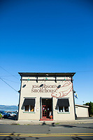 Josephson's Smokehouse, Astoria, Oregon. Josephson's was established in 1920 and has been a fixture on the Astoria waterfront ever since.