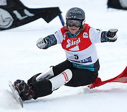 09.01.2011, Bad Gastein, AUT, FIS Weltcup Snowboard, Bad Gastein, im Bild ..Doris GUENTHER (AUT) while competing during the final runs in the LG Snowboard FIS World Cup 2011 in Bad Gastein.., EXPA Pictures © 2011, PhotoCredit: EXPA/ S. Kiesewetter