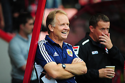 Bristol City's head coach, Sean O'Driscoll laughs before the game - Photo mandatory by-line: Dougie Allward/JMP - Tel: Mobile: 07966 386802 27/03/2013 - SPORT - FOOTBALL - Goldsands Stadium - Bournemouth -  Bournemouth V Bristol City - Pre Season friendly