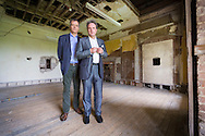 Mark Baring (left), son of Lord Ashburton and Michael Chance, Artistic Director of The Grange Festival pictured at Grange Park in Hampshire. The Grange Festival will have its inaugural season in June, 2017 after parting with its previous tenants, Grange Park Opera, who enjoyed 16 years at the award winning theatre. <br /> Picture date: Thursday October 20, 2016.<br /> Photograph by Christopher Ison ©<br /> 07544044177<br /> chris@christopherison.com<br /> www.christopherison.com