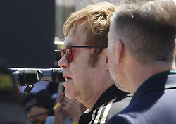 May 28, 2018 - Kiev, Ukraine - English musician ELTON JOHN speaks as he attends a charity event to support innovative HIV prevention and to raise awareness about AIDS in Kiev, Ukraine May 28, 2018. (Credit Image: © Serg Glovny via ZUMA Wire)
