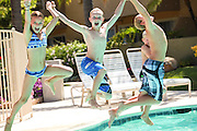 Kids Jumping into the Pool