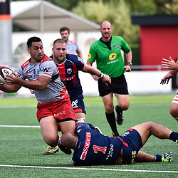 Roimata Hansell Pune of Oyonnax during a test match between Grenoble and Oyonnax on August 3, 2017 in Grenoble, France. (Photo by Romain Lafabregue/Icon Sport)
