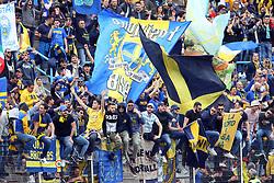 """Foto Filippo Rubin<br /> 26/03/2017 Ferrara (Italia)<br /> Sport Calcio<br /> Spal vs Frosinone - Campionato di calcio Serie B ConTe.it 2016/2017 - Stadio """"Paolo Mazza""""<br /> Nella foto: I TIFOSI DEL FROSINONE<br /> <br /> Photo Filippo Rubin<br /> March 26, 2017 Ferrara (Italy)<br /> Sport Soccer<br /> Spal vs Frosinone - Italian Football Championship League B ConTe.it 2016/2017 - """"Paolo Mazza"""" Stadium <br /> In the pic: FROSINONE'S FANS CELEBRATE"""