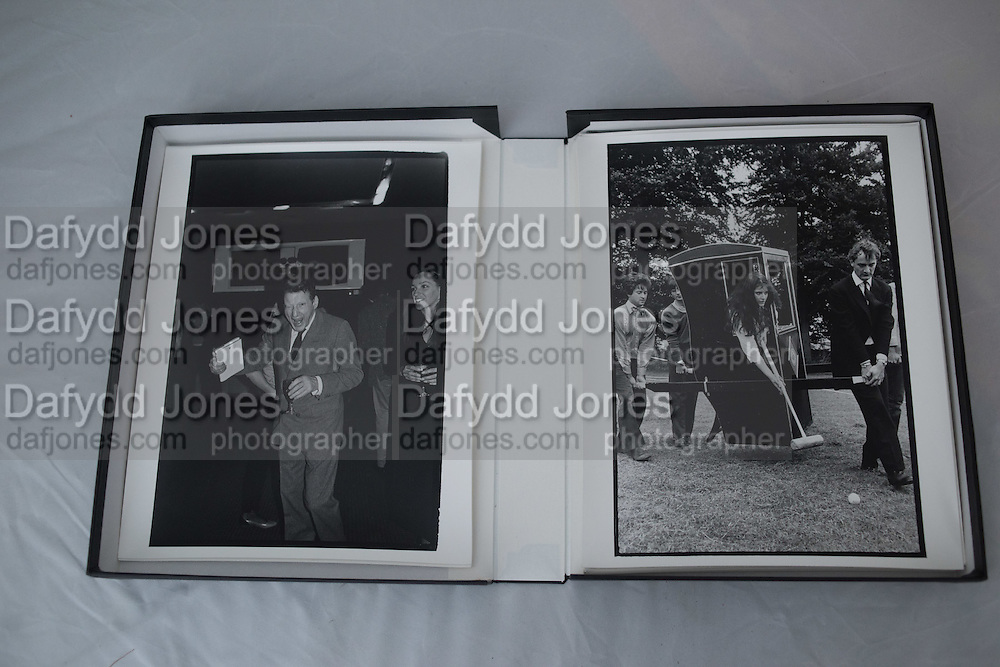 LEFT: Lucian Freud at Lord Antony Lambton's book party. London 19/9/83.<br /> <br /> RIGHT: Nigella Lawson playing croquet at a Dangerous Sports Club Tea party. Given at the Gloucestershire home of the Dutch Ambassador Robbert Fack. 22 August 1981.