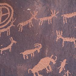 Newpaper Rock, S.P., UT.Near Monticello.  Petroglyphs.