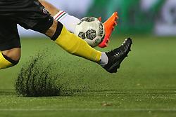 artificial grass, rubber korrels, kunstgras, kunst gras, voetbal during the Dutch Eredivisie match between VVV Venlo and ADO Den Haag at Seacon stadium De Koel on October 21, 2017 in Venlo, The Netherlands