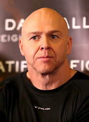 Dominic Ingle during the press conference at Sheffield Town Hall.