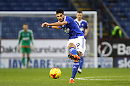 Kevin Bru of Ipswich Town in action. Skybet football league Championship match, Burnley v Ipswich Town at Turf Moor in Burnley, Lancs on Saturday 2nd January 2016.<br /> pic by Chris Stading, Andrew Orchard sports photography.