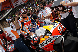 June 17, 2018 - Barcelona, Catalonia, Spain - Marc Marquez (93) of Spain and Repsol Honda Team during the race day of the Gran Premi Monster Energy de Catalunya, Circuit of Catalunya, Montmelo, Spain. 17th June of 2018. (Credit Image: © Jose Breton/NurPhoto via ZUMA Press)
