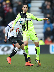 Karim Matmour of Huddersfield Town in action - Mandatory byline: Jack Phillips/JMP - 05/03/2016 - FOOTBALL - iPro Stadium - Derby, England - Derby County v Huddersfield Town - Sky Bet Championship