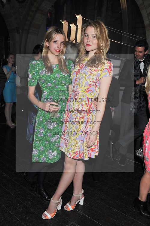 Left to right, GRETA BELLAMACINA and AMBER ATHERTON at the NatWest UK Fashion & Textile Awards in aid of Save The Children held at 1 Mayfair, London on 23rd May 2013.
