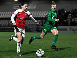 February 20, 2019 - Borehamwood, Hertfordshire, United Kingdom - Danielle Van De Donk of Arsenal attacking during the FA Women's Super League football match between Arsenal Women and Yeovil Town L.F.C.at Meadow Park on February 20, 2019 in Borehamwood, England. (Credit Image: © Action Foto Sport/NurPhoto via ZUMA Press)