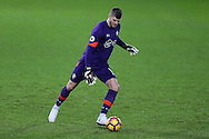 Fraser Forster, the Southampton goalkeeper in action. Premier league match, Swansea city v Southampton at the Liberty Stadium in Swansea, South Wales on Tuesday 31st January 2017.<br /> pic by  Andrew Orchard, Andrew Orchard sports photography.