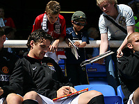 Photo: Paul Thomas.<br /> Peterborough United v Manchester United. Pre Season Friendly. 04/08/2007.<br /> <br /> New signing Owen Hargreaves of Utd starts from the bench.