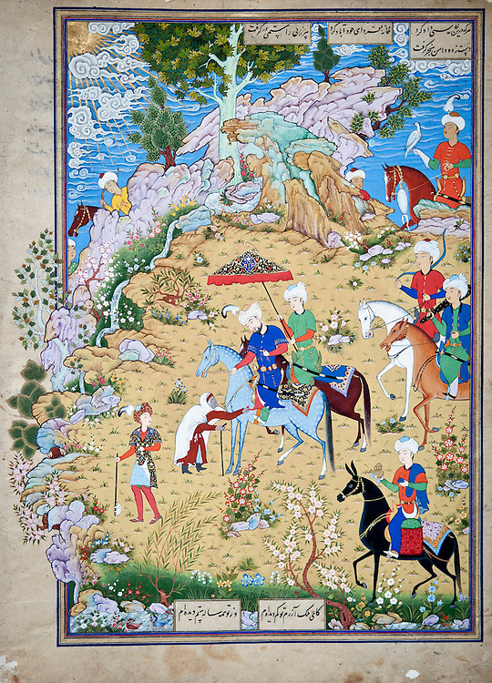 Bukhara, Uzbekistan 24 March 2012<br /> Ancient miniature restored by artist Davron Toshev.<br /> Bukhara of the 16th century attracted skilled craftsman of calligraphy and miniature-paintings making of this region the hub of arts.<br /> PHOTO: EZEQUIEL SCAGNETTI