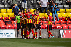 31JUL21 Partick Thistle's Brian Graham celebrates after scoring their first goal. half time : Partick Thistle 2 v 1 Queen of the South. First Scottish Championship game of the season.