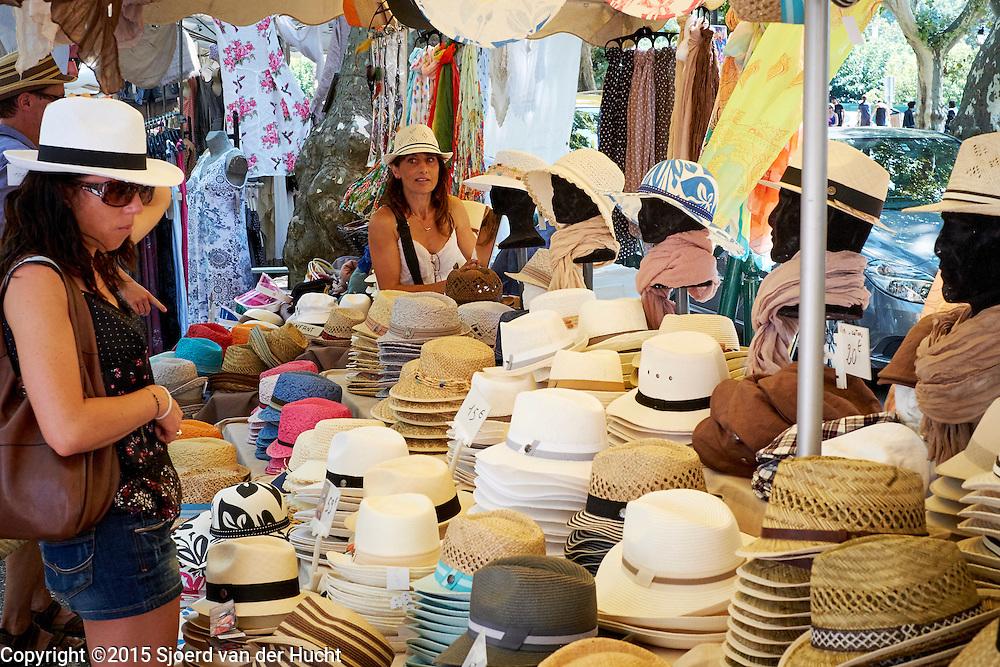 Markt in Aups, Frankrijk - Market in Aups, France