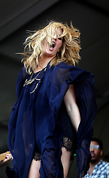 04 May 2012. New Orleans, Louisiana,  USA. .New Orleans Jazz and Heritage Festival. .Grace Potter (and the Nocturnals) take to the Acura stage..Photo; Charlie Varley.04 MAy 2012. New Orleans, Louisiana,  USA. .New Orleans Jazz and Heritage Festival. .Grace Potter (and the Nocturnals) takes to the Acura stage..Photo; Charlie Varley.