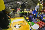 Nederland, Puiflijk, 31-1-2016Op verschillende plaatsen in Zuiden van Nederland, worden carnavalswagens, praalwagens, gebouwd in schuren en schuurtjes. Komend weekend is het carnaval. Omgeving Nijmegen.FOTO: FLIP FRANSSEN/ HH
