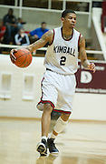 Keith Fraizer (2) of Kimball brings the ball up the court against Carrollton Newman Smith in the Class 4A area-round playoff game Friday, February 22, 2013 at the Alfred J. Loos Field House in Addison, Texas. (Cooper Neill/The Dallas Morning News)