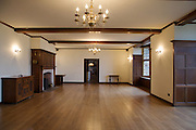 Ballroom leading to The Snug, Pickwell Manor, Georgeham, North Devon, UK. <br /> CREDIT: Vanessa Berberian for The Wall Street Journal<br /> HOUSESHARE