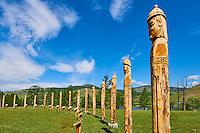 Mongolie, Province du Khentii, statue de Gengis khan au lac Kokh Nuur, le lac bleu // Mongolia, Khentii province, Genghis khan statue at Khokh Nuur, the bleu lake