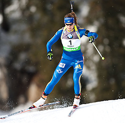 "19.01.2012, Südtirol Arena, Antholz, ITA, E.ON IBU Weltcup, 6. Biathlon, Antholz, Sprint Damen, im Bild Anna-Karin Stroemstedt (SWE) // Anna-Karin Stroemstedt (SWE) during Sprint Women E.ON IBU World Cup 6th, ""South Tyrol Arena"", Antholz-Anterselva, Italy on 2012/01/19, EXPA Pictures © 2012, PhotoCredit: EXPA/ Juergen Feichter"