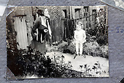 young adult woman and child in there garden 1900s England