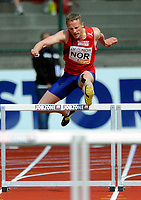 Friidrett<br /> 20. Juni 2009<br /> European Team Championships 1. st Leauge<br /> Fana Stadion<br /> 400 m hekk<br /> Andreas Totsås , Norge<br /> Foto : Astrid M. Nordhaug