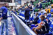 Gianmarco Pozzecco, Simone Unali<br /> Banco di Sardegna Dinamo Sassari - Allianz Pallacanestro Trieste<br /> Legabasket LBA Serie A UnipolSai 2020-2021<br /> Sassari, 04/10/2020<br /> Foto L.Canu / Ciamillo-Castoria