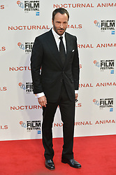 © Licensed to London News Pictures. 14/10/2016. TOM FORD attends the Nocturnal Animals film premiere of as part of the London Film Festival. London, UK. Photo credit: Ray Tang/LNP
