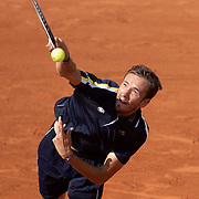 PARIS, FRANCE June 6.  Daniil Medvedev of Russia in action against Cristian Garin of Chile on Court Suzanne Lenglen during the fourth round of the singles competition at the 2021 French Open Tennis Tournament at Roland Garros on June 6th 2021 in Paris, France. (Photo by Tim Clayton/Corbis via Getty Images)