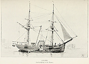 Collier coal whipping in the Thames Sketch of a from the book ' Pen and pencil sketches of shipping and craft all round the world ' by Pritchett, Robert Taylor Published in London in 1899