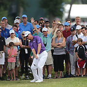 John Senden, Australia, in action during the third round of theThe Barclays Golf Tournament at The Ridgewood Country Club, Paramus, New Jersey, USA. 23rd August 2014. Photo Tim Clayton