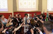© Filippo Alfero<br /> Conferenza stampa post voto di Chiara Appendino in attesa dei risultati delle elezioni amministrative 2016<br /> Torino, Municipio, 06/06/2016<br /> Nella foto: