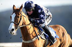 Don\t Panic ridden by Rhan Mahon during the South West Racing Club Handicap Hurdle (Class 5) (4YO plus)  - Photo mandatory by-line: Harry Trump/JMP - Mobile: 07966 386802 - 17/02/15 - SPORT - Equestrian - Horse Racing - Taunton Racecourse, Somerset, England.