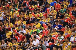 May 26, 2017 - Torcida durante a partida entre Brasil x Paraguai realizada no estádio do Pacaembu em São Paulo (SP). A partida é válida pela terceira e última rodada do Campeonato Sul-Americano de Rugby XV de 2017. (Credit Image: © Jales Valquer/Fotoarena via ZUMA Press)