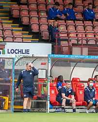 31JUL21 Partick Thistle's manager Ian McCall and Queen of the South's Manager Allan Johnston. Partick Thistle 3 v 2 Queen of the South. First Scottish Championship game of the season.